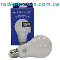 Лампа Global LED A60 10W 4100K 220V E27 (264) MAXUS
